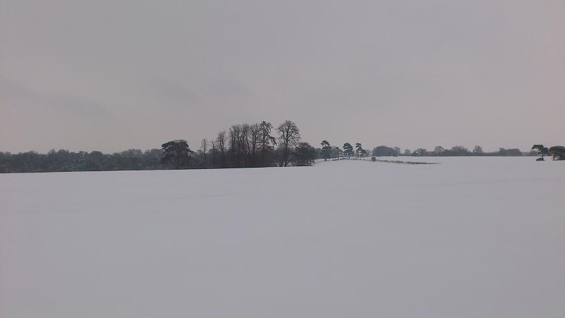 Snowfields east of Pitsford.